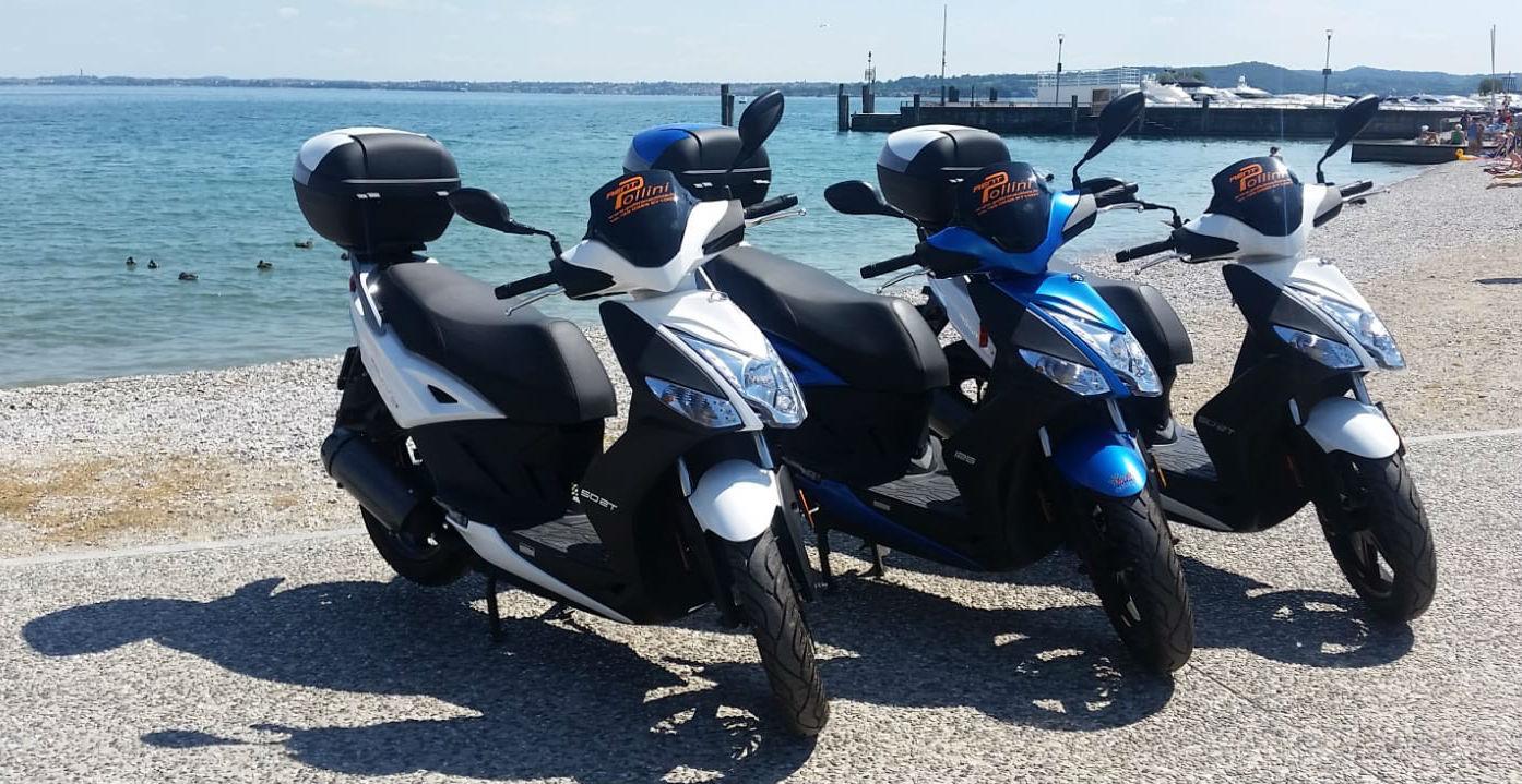Noleggio scooter sul lago di Garda Moniga del Garda